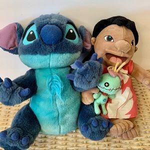 Disney's Lilo, Stitch and Scrump Plush Doll Set